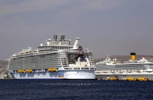 Harmony of the Seas docked in Marseille, France.
